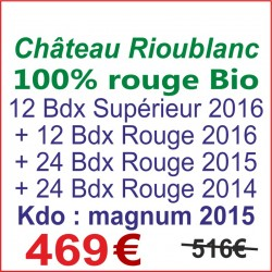 Promo : 100% Bordeaux rouge...